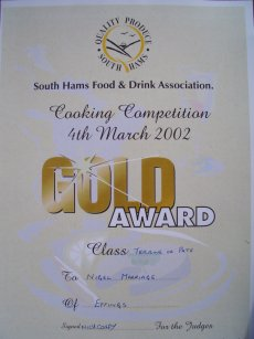 <b>South Hams Food & Drink Assoc Cookery Competition</b><br>